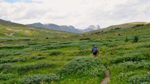 Jasper Alberta Canada backpacking pack