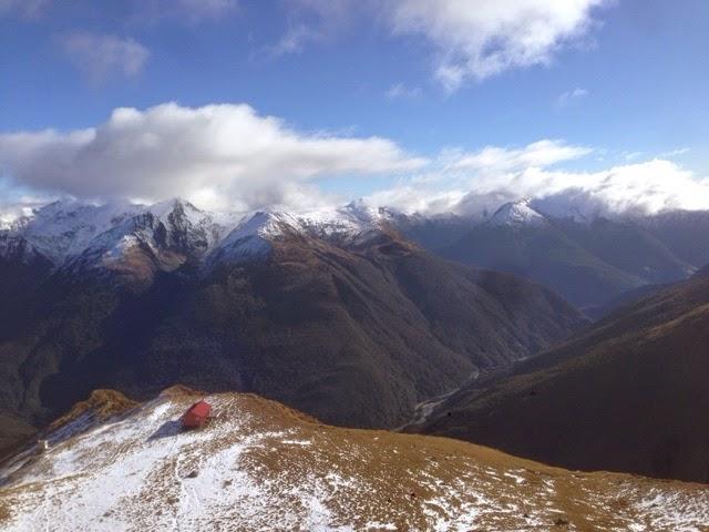 Climbing Mt Armstrong in Mount Aspiring, NZ