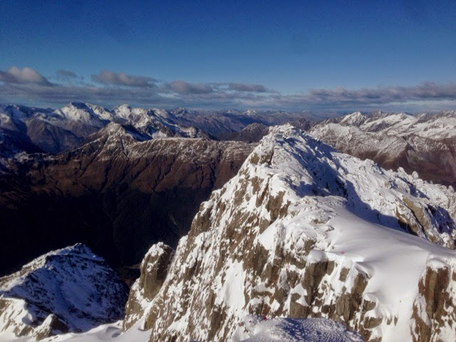 Mt Armstrong summit and views of surrounding peaks