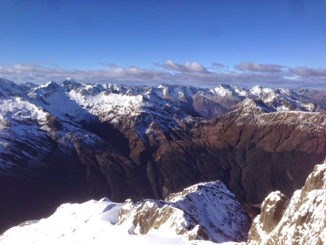 view from the summit of Mt Armstrong