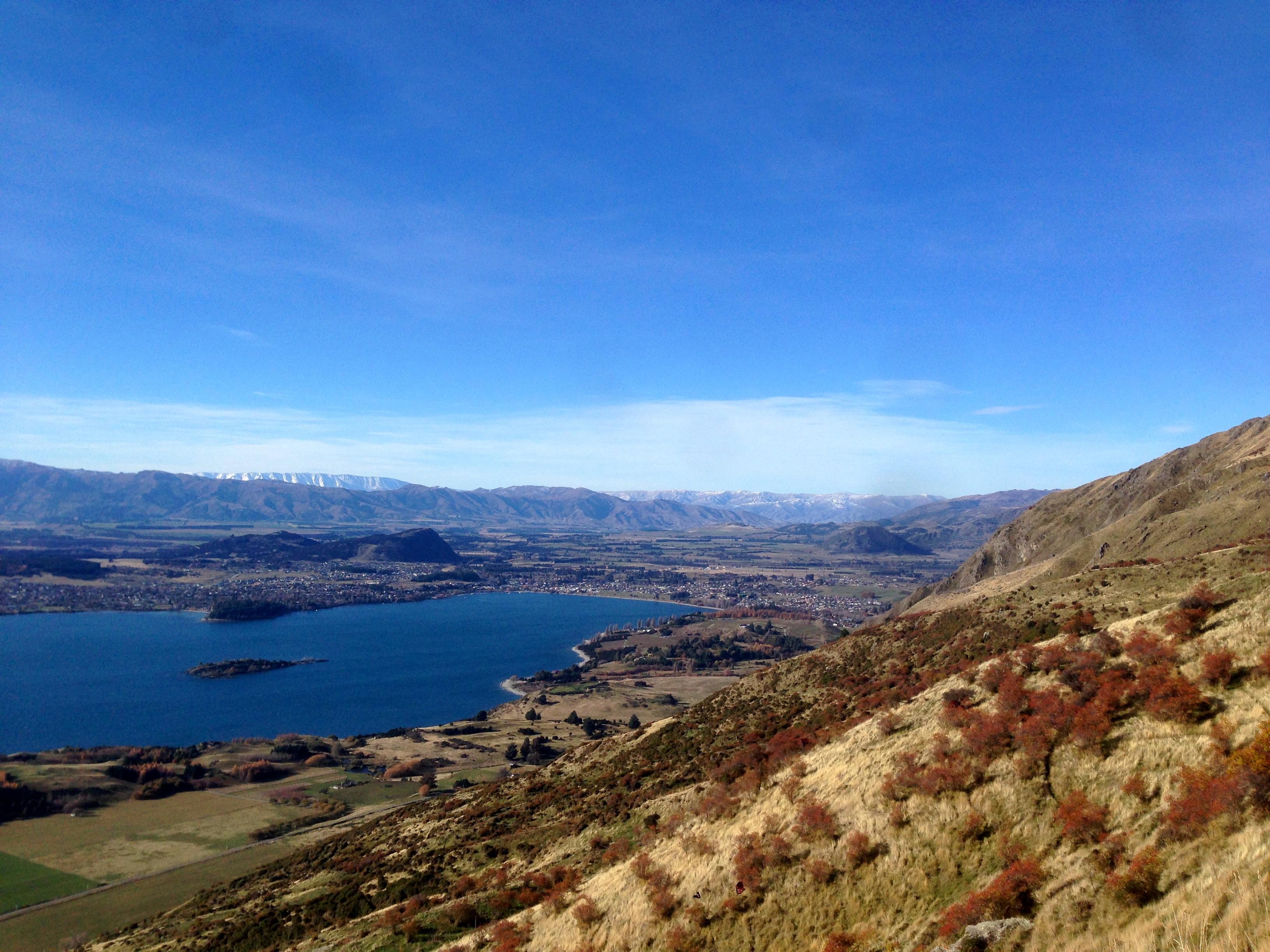 Wanaka, New Zealand from Roy's Peak Trail