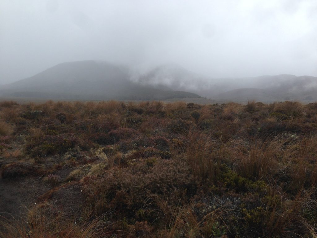 Clouds and fog on the Tongariro Circuit