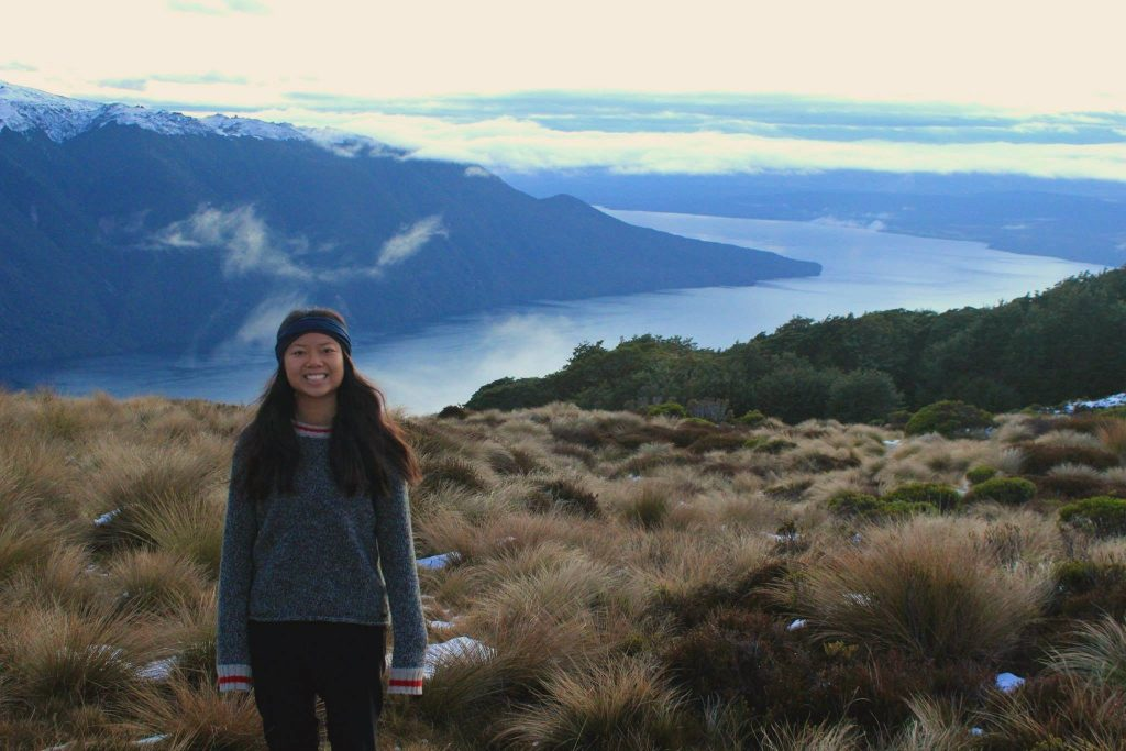 Lauren Chu on the Kepler Track, New Zealand