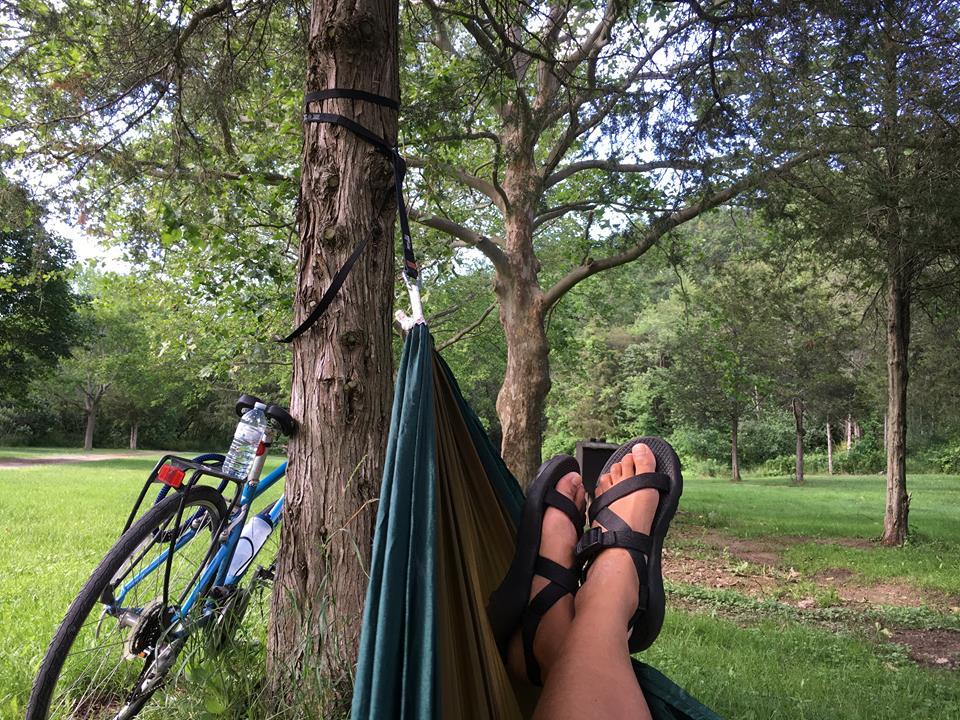 hammock bikepacking in St Catharines Ontario