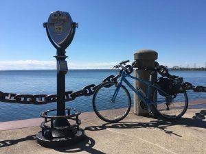 Bike on the Burlington waterfront on the way from Toronto to Niagara