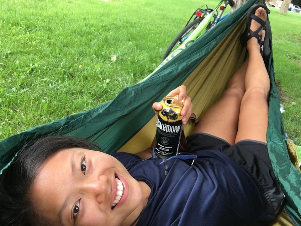 hammock bikepacking in St Catharines at Big Valley Campground