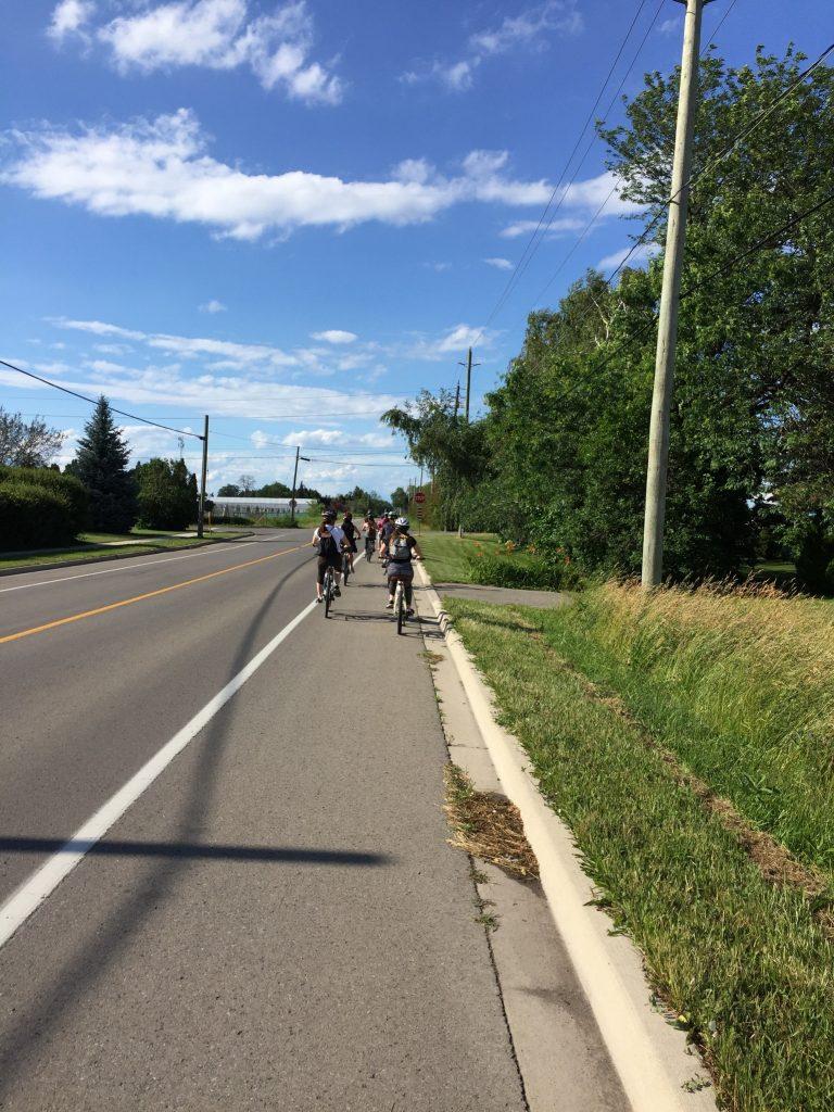 Niagara wine tour by bike after biking from Toronto