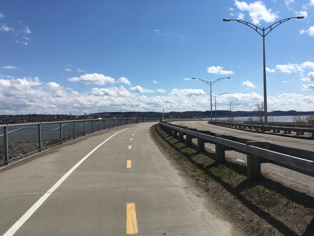 St Lawrence River bike path in Quebec City