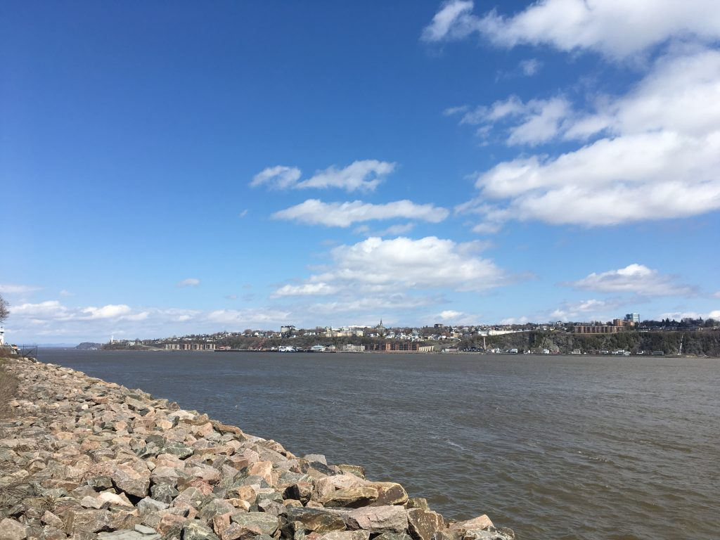 Quebec City bike path along the St Lawrence River