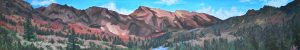 acrylic painting of the Brazeau Loop km 72