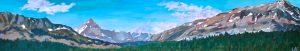 acrylic painting of The Brazeau Loop km 55